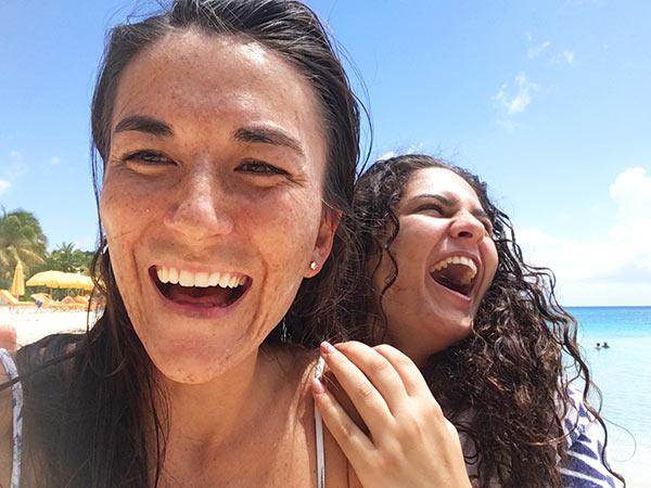 Nori Evoy and Louise Fayet Anguilla