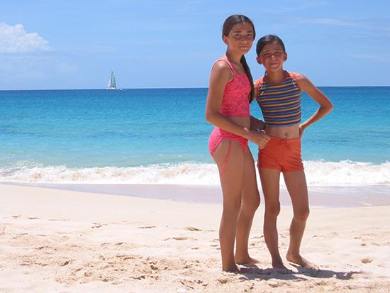 Nori and Yuki at Barnes Beach