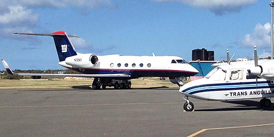 ny giants jet in anguilla