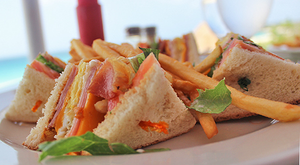 ocean echo club sandwich