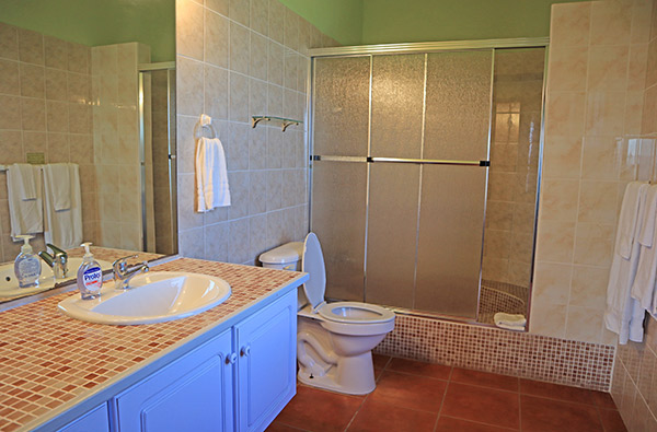 master bathroom at ocean terrace condo