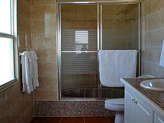 bathroom inside ocean terrace condos