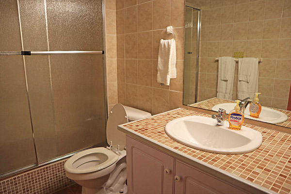 second bathroom in ocean terrace condos