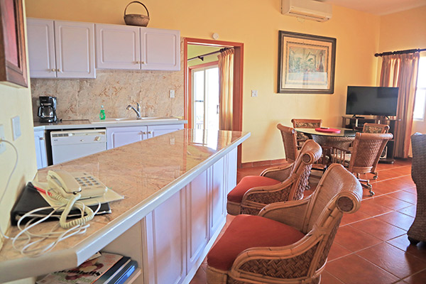 kitchen area in ocean terrace condos