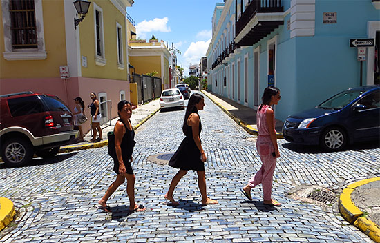 walking around old san juan