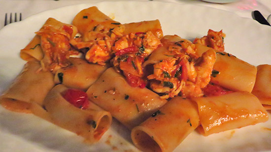 paccheri spiny lobster pasta