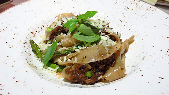 homemade pappardelle with braised short ribs at malliouhana