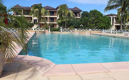 pool area at paradise cove