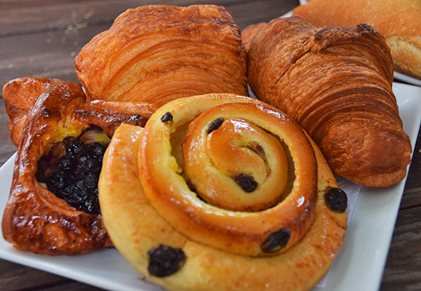 order of pasteries from the french bakery