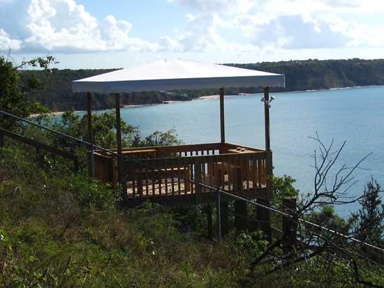 deck overlooking Crocus Bay