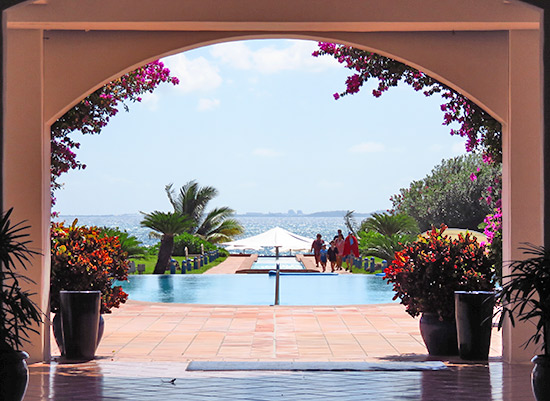 the view from inside cuisinart golf resort & spa