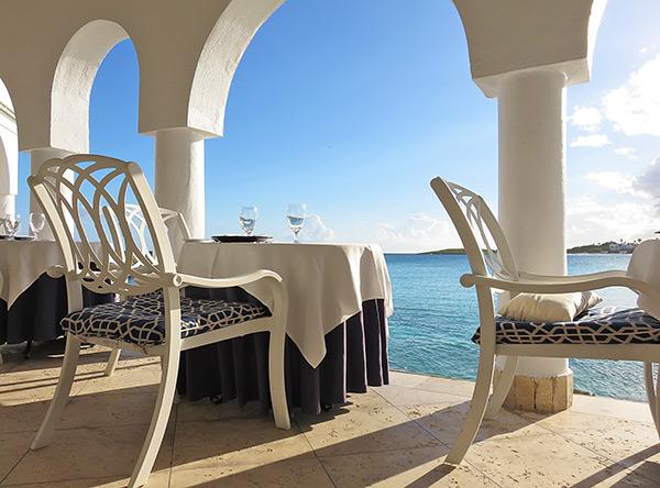 seaside dining view at cap juluca pimms