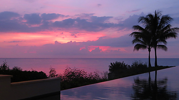 sunset at four seasons anguilla