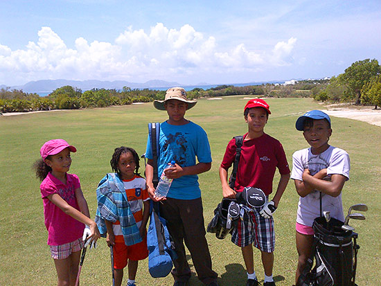 anguilla play golf kids