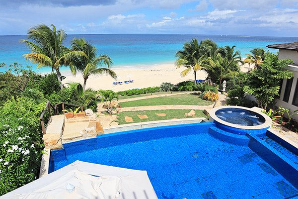 pool at nevaeh villa anguilla