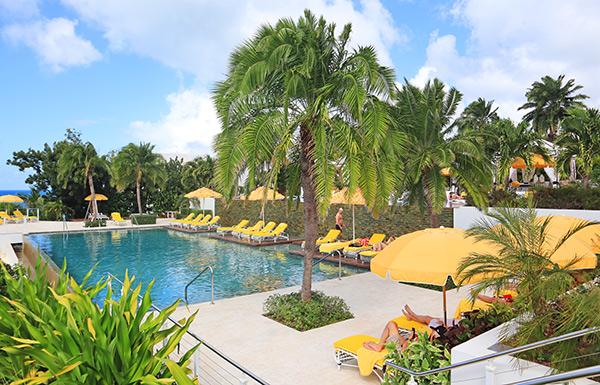 the pool area at malliouhana
