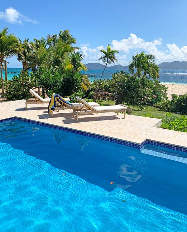 Beach Escape Villa Pool deck