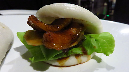 upclose shot of pork buns