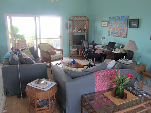 living area in an anguilla villa