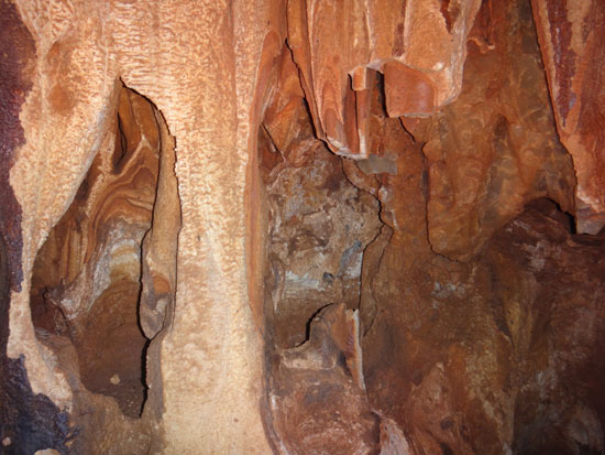 broken stalactite in cavannagh cave