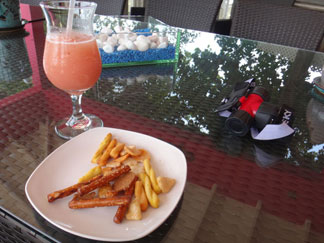 snack and juice included in pure anguilla hikes