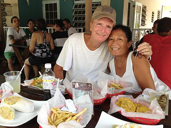inside la cambija restaurant in rincon, puerto rico