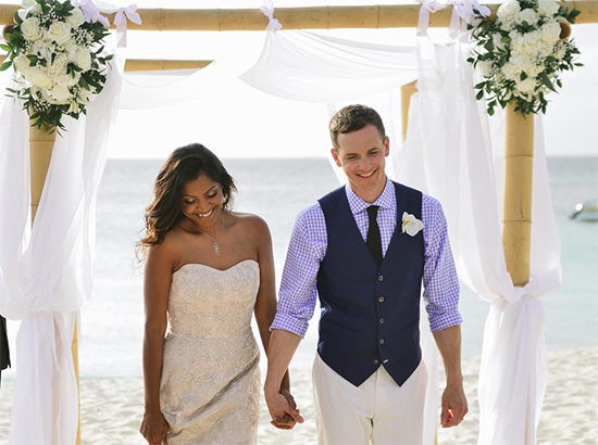 dana and james romantic beach wedding
