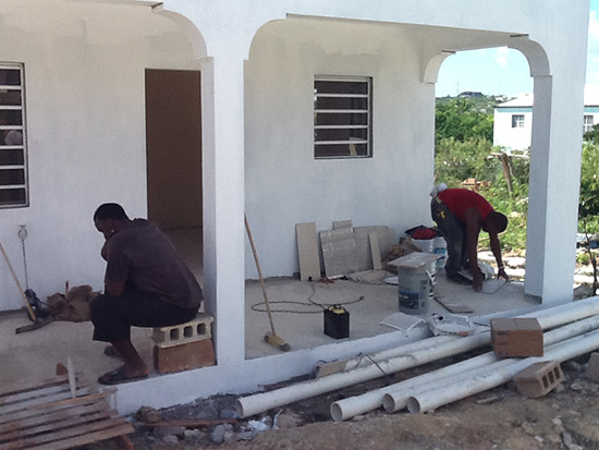 rotary club of anguilla constructing tyrone home