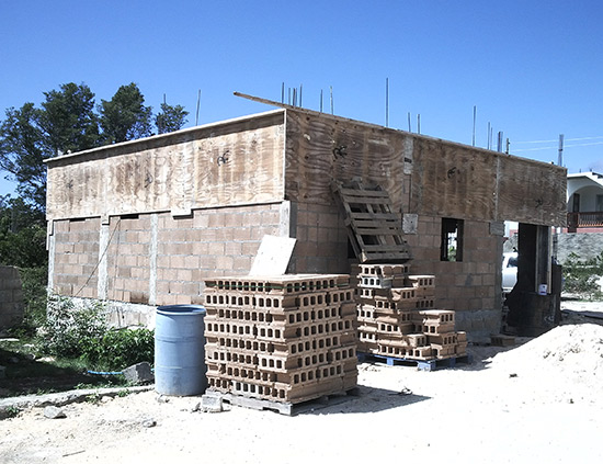 construction of tyrone home by rotary club of anguilla