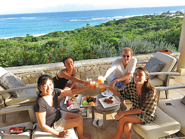 rum punch cheers at bird of paradise villa