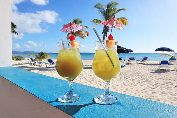 trattoria tramonto on shoal bay west Anguilla has a classic Caribbean charm and an unbeatable location
