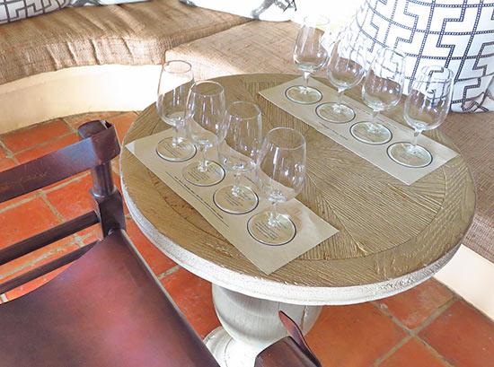 rum tasting at table in malliouhana sunset bar