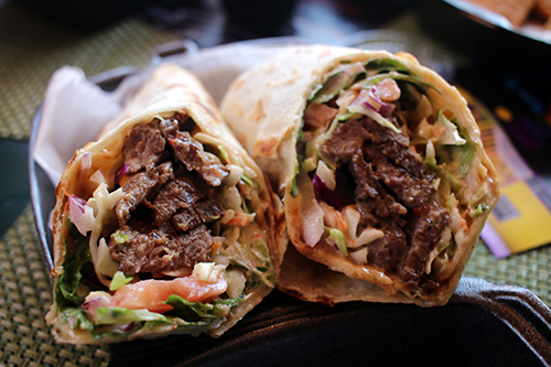ruthys yum yum steak wrap
