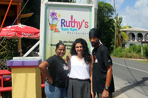Ruthys staff outside the restaurant with louise