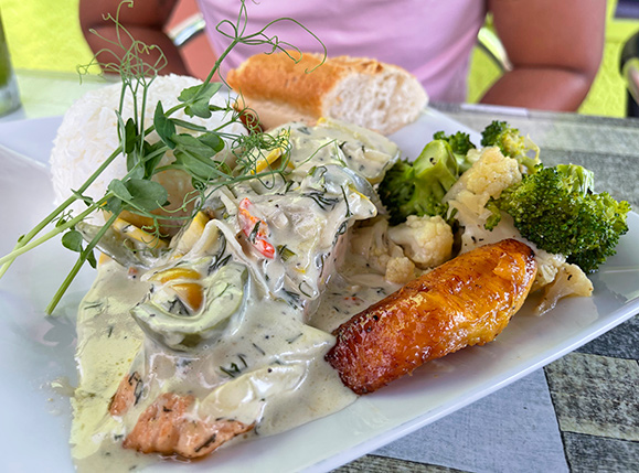 Salmon in Dill Sauce at Top Carrot