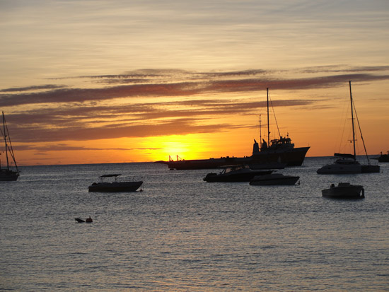 SandBar tapas restaurant in Anguilla during sunset
