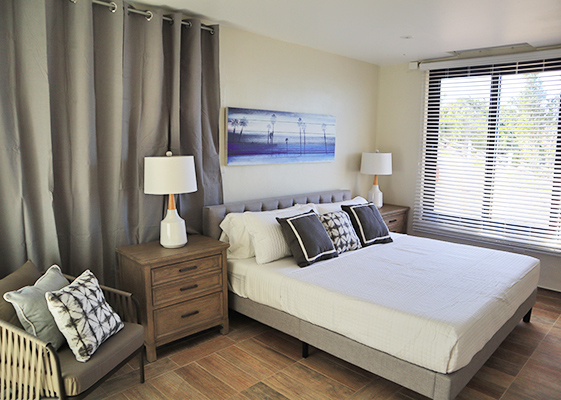 Master bedroom at Sand Castle: The Beach House