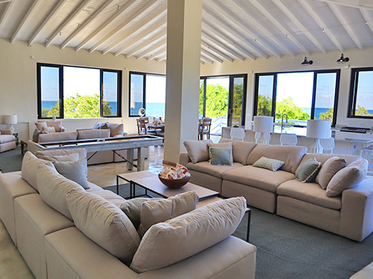 Living Room at Sand Castle: The Beach House