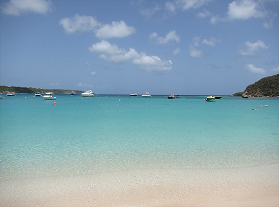 sandy ground beach in anguilla