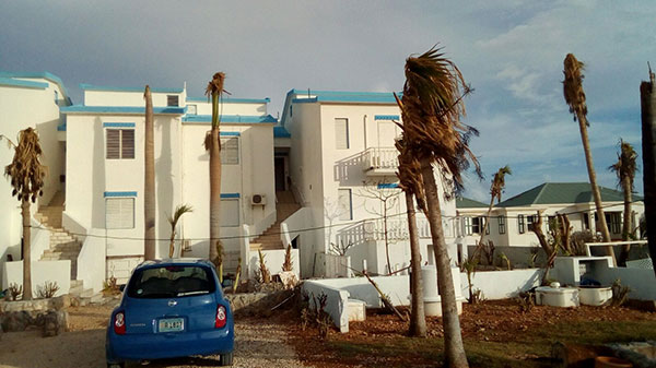 sandy hill club condos after hurricane irma in anguilla