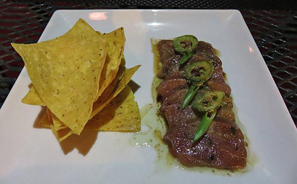 tuna tartare at sarjais anguilla
