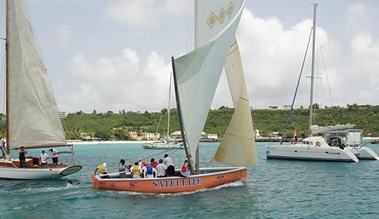 satellite anguilla sailboat