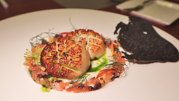 scallops at the yacht club
