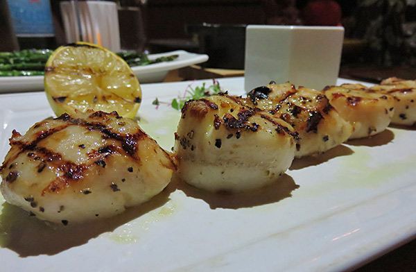 lemon caper butter with diver scallops at coba