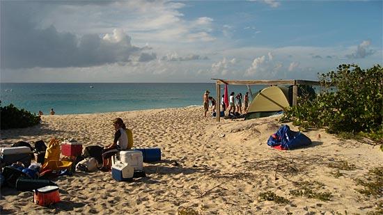 Scrub island camping