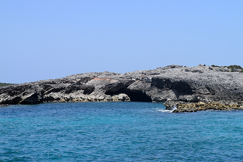 scrub island sea cave entrance