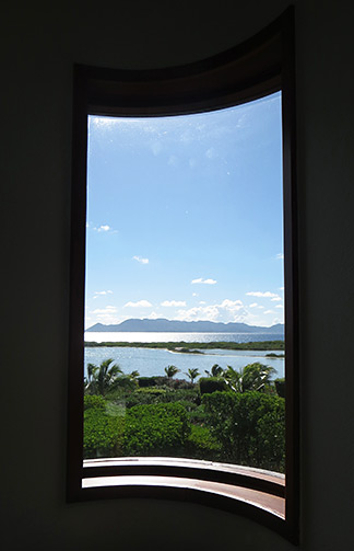 view from bathroom window