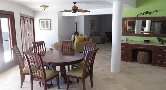 downstairs floor to villa harmony