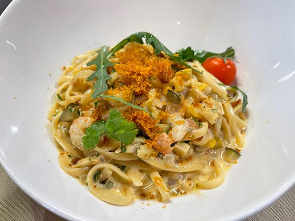 Shrimp Linguini at Bacchus