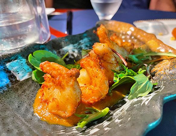 Shrimp Tempura at Sublime Resto Bar